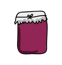 bottle jam isolated icon design vector image
