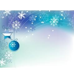 christmas elegant blue background vector image