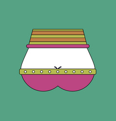flat icon design collection sexy female belt vector image vector image