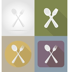 objects for food flat icons 05 vector image