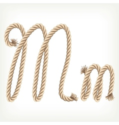 Rope alphabet Letter M vector image vector image