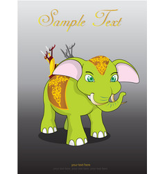 thai elephant cute animal character isolated on vector image