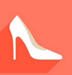 woman high heels with long shadow vector image vector image