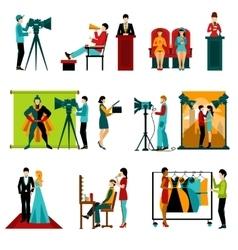 Cinema People Set vector image