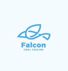 line style falcon symbol abstract icon vector image