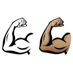 Muscular arm flexing bicep vector