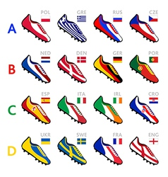 soccer team shoes vector image