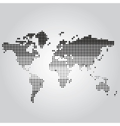 World Map with dots of different sizes vector image vector image