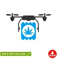 Drone Cannabis Delivery Eps Icon vector image vector image
