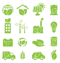 Eco friendly and environmental icons vector image vector image