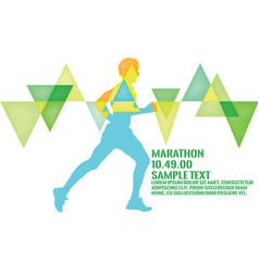 marathon 2016 running marathon poster vector image