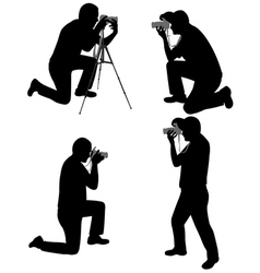 photographers vector image vector image