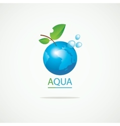 Planet earth in the spray of clean water vector