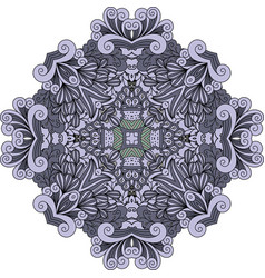 violet doodle decorative element vector image vector image