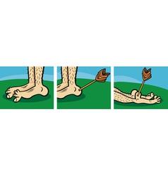 achilles heel cartoon vector image vector image