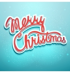 Christmas lettering on a blue background vector image vector image