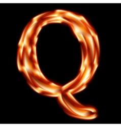 Fiery font Letter Q - EPS 10 vector image