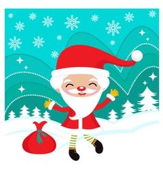 happy dancing santa vector image vector image