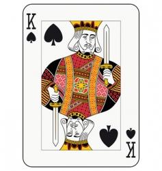 King of spades vector