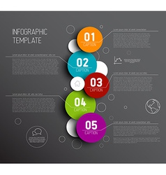 One two three four five - progress icons for five vector image vector image