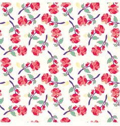 Seamless pattern with vintage roses vector