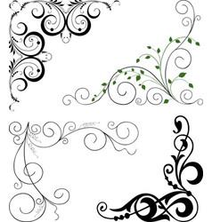 A set decorative corners vector