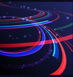 Abstract curving lines ray of ligh vector