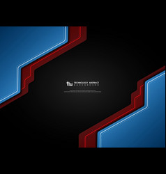 abstract gradient blue and red on black vector image