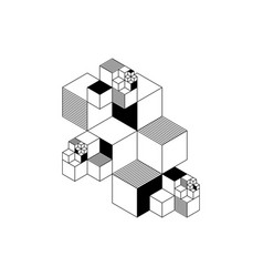 Abstract modern outline geometric isometric vector