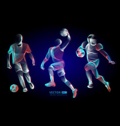 abstract sport game competition player male vector image