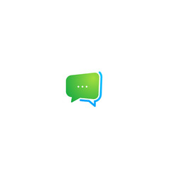 Abstract square round chat bubble communication vector