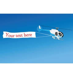 Airplane with banner vector image