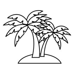 Beach palm tree vector