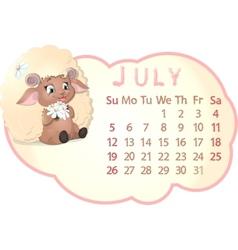 Beautiful calendar vector