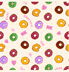 beautiful seamless pattern with colorful vector image