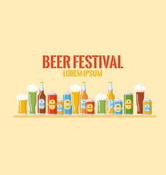beer festival colorful banner vector image