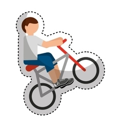 bicycle extreme sport icon vector image