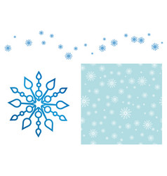 blue snowflake pattern vector image