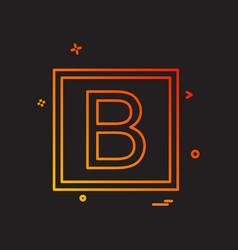 bold icon design vector image