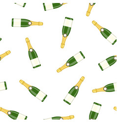 bottle alcohol champagne vector image