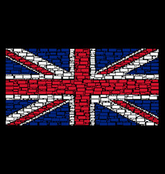 british flag pattern of building brick items vector image