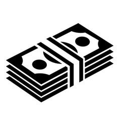 bundle note icon simple black style vector image