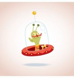 Cartoon alien character vector image