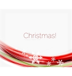 Christmas wave abstract background vector