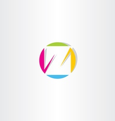 colorful letter z icon sign symbol logotype vector image vector image
