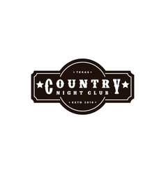 country music western vintage retro saloon bar vector image