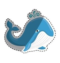 Cute whale cartoon vector