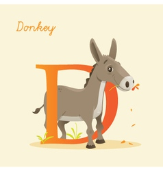 D for donkey vector
