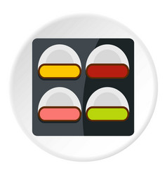 Different sushi icon circle vector