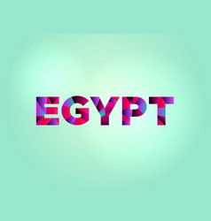 Egypt concept colorful word art vector